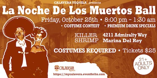 Calavera Tequila Halloween Party at Killer Shrimp