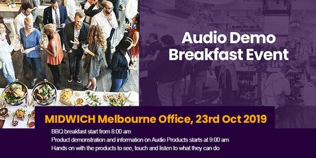 Midwich Melbourne Audio Demo Breakfast Event tickets