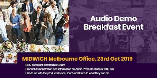 Midwich Melbourne Audio Demo Breakfast Event