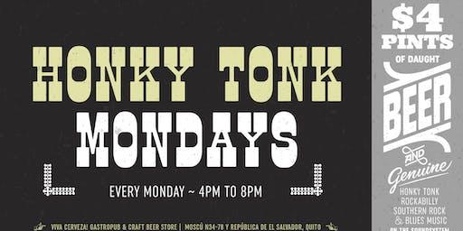$4 Pints at Honky Tonk Mondays!