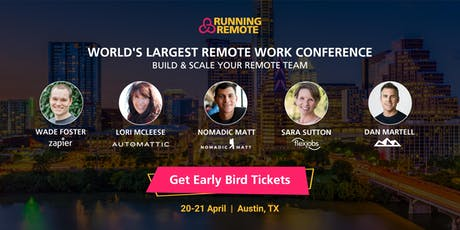 Running Remote 2020 - The Largest Remote Work Conference tickets