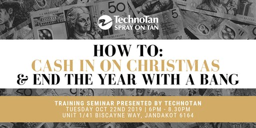 Exclusive TechnoTan Training Seminar - How To Cash In On Christmas