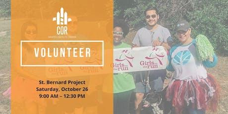 Volunteer with COR: SBP tickets