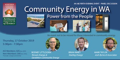 Community Energy in WA:  Power from the People