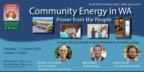 Community Energy in WA:  Power from the People tickets