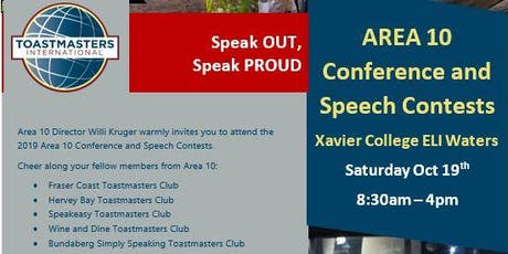Toastmasters Area 10 Conference and Speech Contest tickets