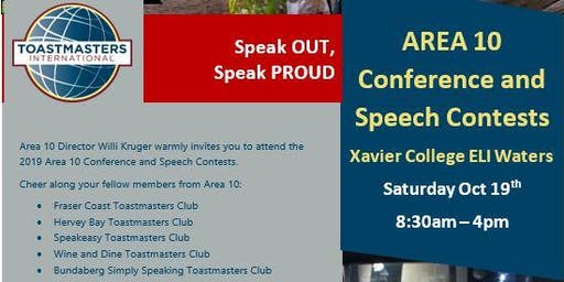 Toastmasters Area 10 Conference and Speech Contest