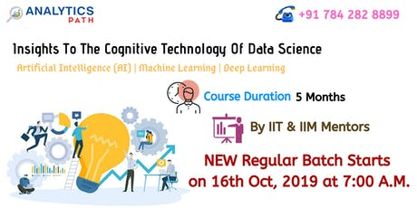 Enroll Now For Data Science New Regular Batch Starts On 16th Oct, 7 AM , AP tickets