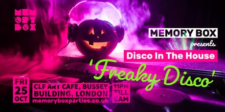 """Memory Box: Disco in the House """"Freaky Disco"""" tickets"""