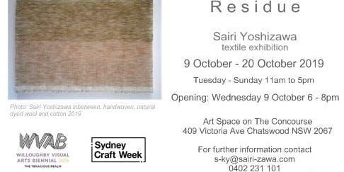 Residue Textiles Art Exhibition by Sairi Yoshizawa
