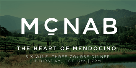 McNab Ridge Wine Dinner tickets