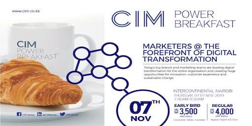 CIM Power Breakfast - Digital Transformation;Leading Organisation into the Digital Age!