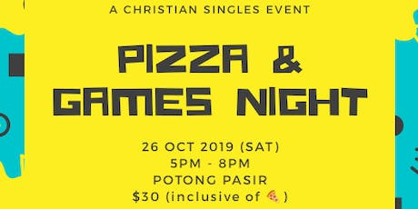 Christian Singles Event - Pizza & Games Night tickets