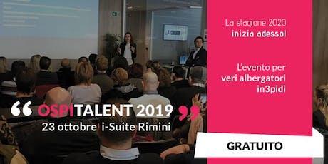 Ospitalent 2019 - L'evento per albergatori in3pidi biglietti