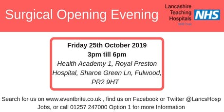 Surgical Opening Evening tickets