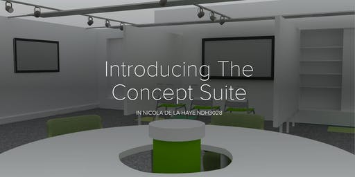Launch event: The Concept Suite: 15/10 from  17:00-18:30