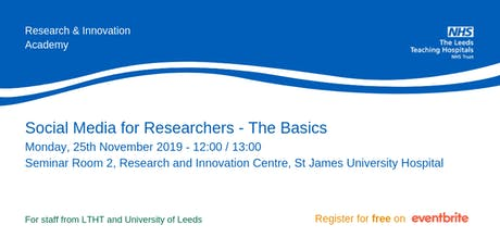 Social Media for Researchers - The Basics tickets