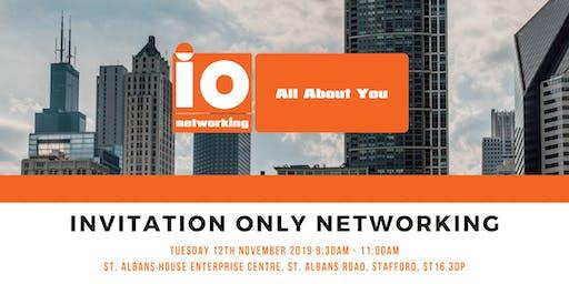 IO Networking - Stafford - Tuesday 12th November 2019