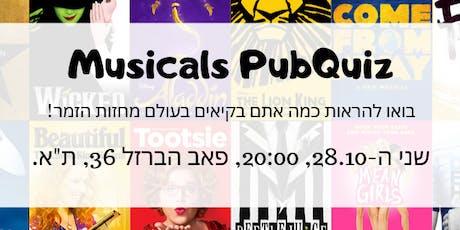 Musicals PubQuiz! tickets