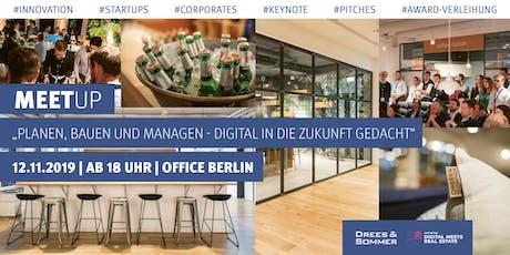 """Meetup """"Planen, Bauen und Managen – digital in die Zukunft gedacht"""" Tickets"""