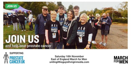 March For Men 2019 - East of England - Prostate Cancer UK  tickets