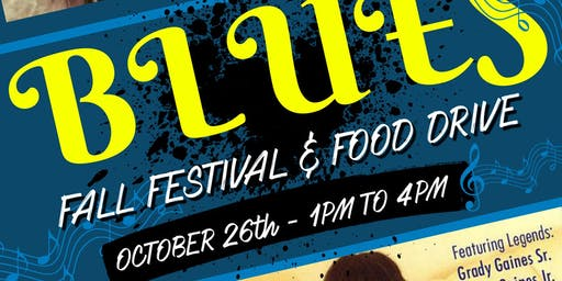 FREE Blues Fall Festival & Food Drive