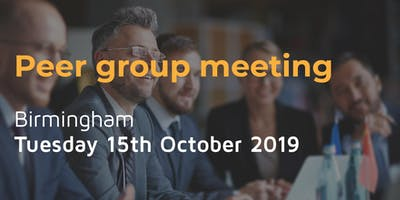 Peer group meeting - Tuesday 15th October in Birmingham