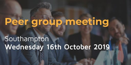 Peer group meeting - Wednesday 16th October in Southampton