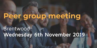 Peer group meeting - Wednesday 6th November in Brentwood