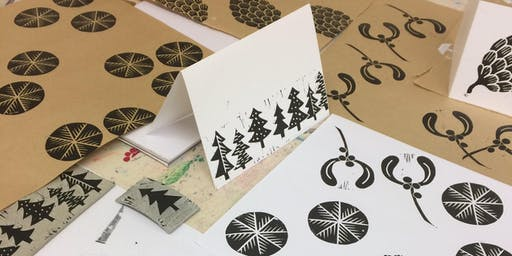 Christmas Lino Printing workshop with Lizzie Mabley