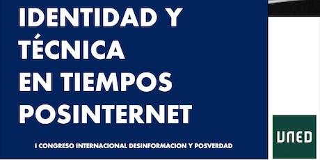 Congreso Identidad y Técnica en tiempos posinternet entradas