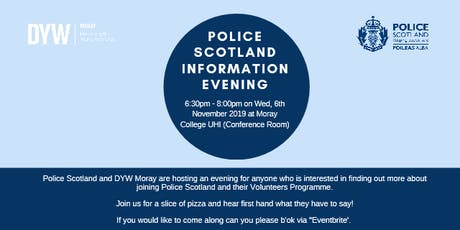 Police Scotland information Evening tickets