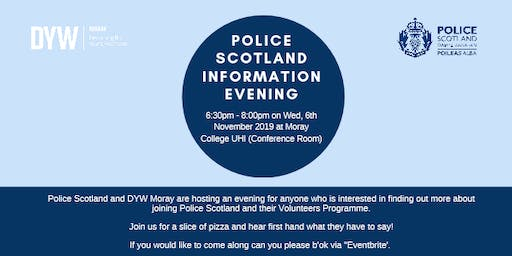 Police Scotland information Evening