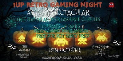 1UP Retro Gaming Night Spooky Spectacular