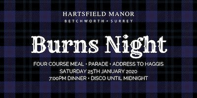 Burns Night | Hartsfield Manor