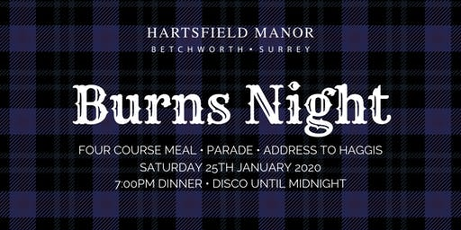 Burns Night | Hartsfield Manor