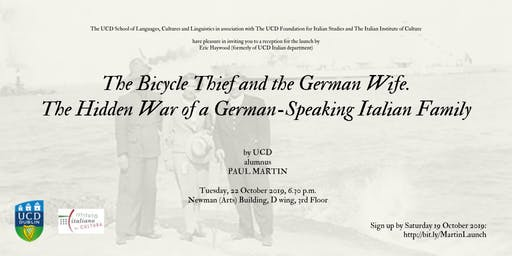 Book Launch: The Bicycle Thief and the German Wife.