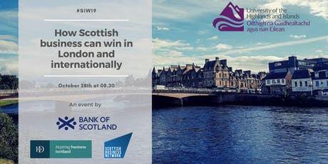 How Scottish business can win in London and Internationally tickets