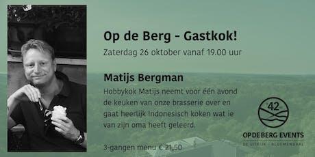 Op de Berg - Gastkok! tickets