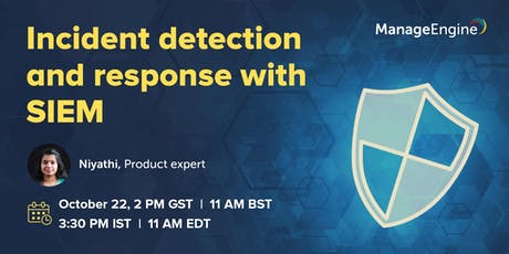 Incident detection and response with SIEM tickets