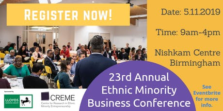 23rd Annual Ethnic Minority Business Conference tickets