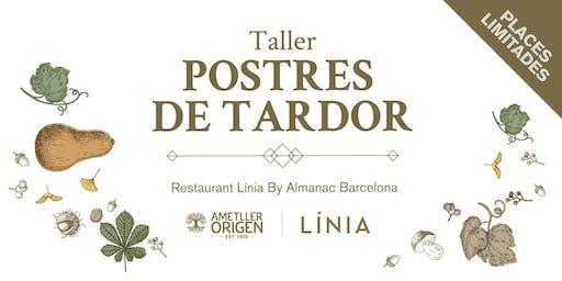 TALLER POSTRES DE TARDOR Restaurant Línia by Almanac Barcelona
