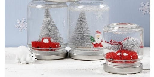 Make A Festive Jam Jar Snow Globe Children's Workshop