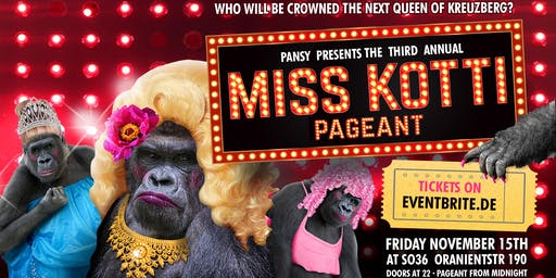 MISS KOTTI 2019 // Nov 15 at SO36