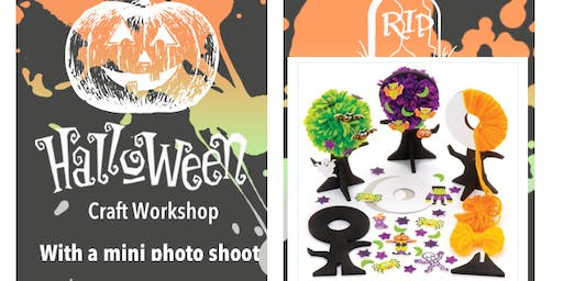 Halloween craft workshop (Spooky Pom Pom Tree ) and mini photo shoot