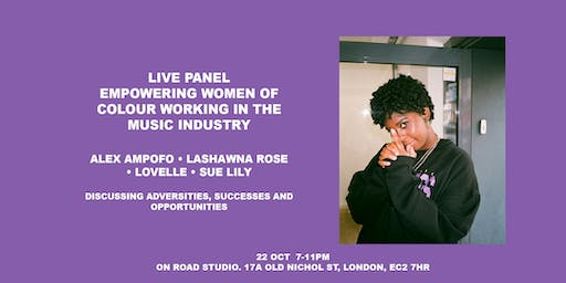 Live Panel Empowering Women Of Colour Working In The Music Industry