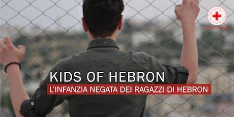"""Proiezione del documentario """"Kids of Hebron"""" biglietti"""