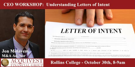 CEO Workshop: Understanding Letters of Intent tickets