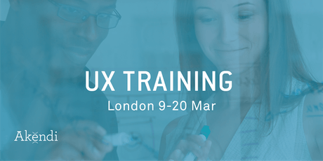 UX Training & Certification, London - Mar 2020 tickets