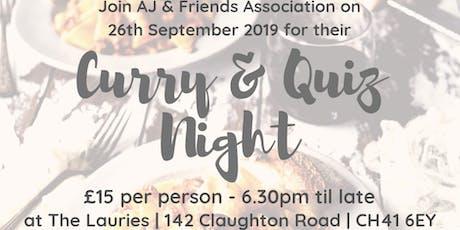 curry & quiz night 2 tickets